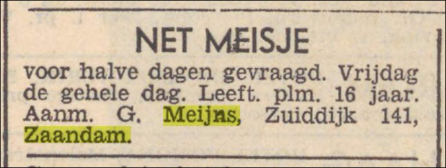 Advertentie, 1939